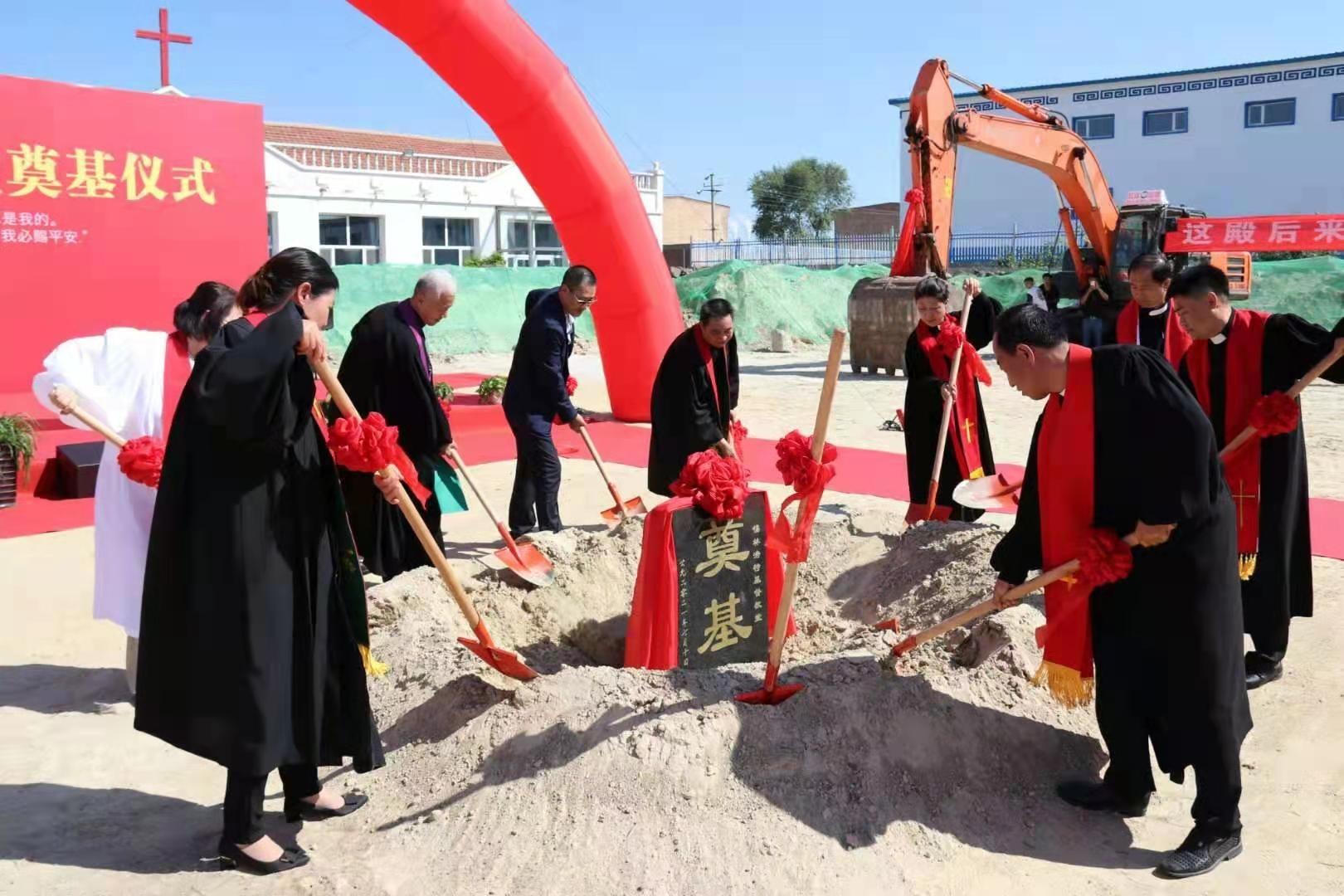 Xilinhot CC Holds a Cornerstone Ceremony
